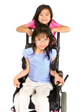 two wheelchair friends